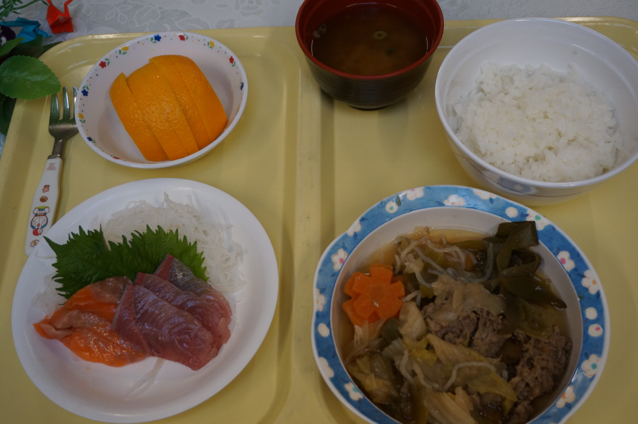 新鮮お刺身とすき焼き風煮