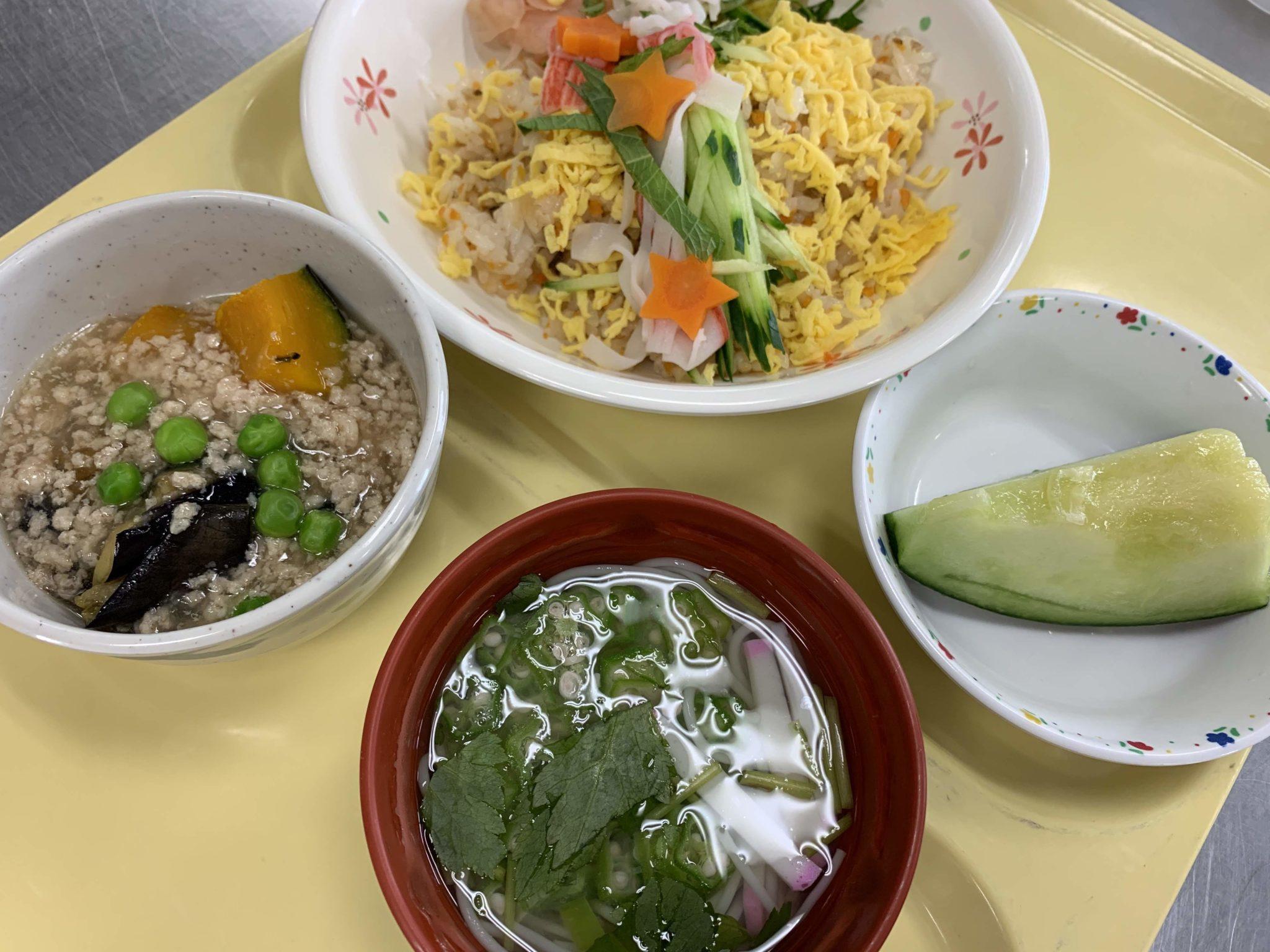 七夕のメニュー天の川のちらし寿司